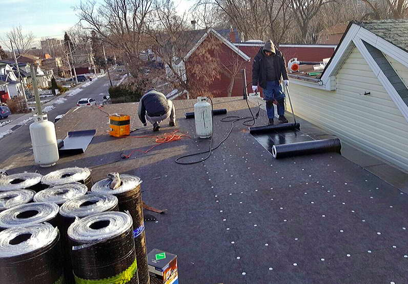 Roll Roof Installation